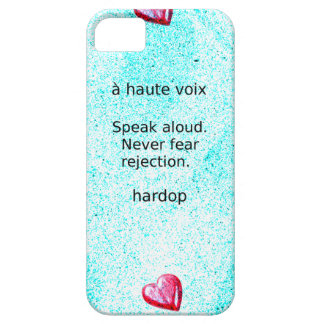 """Speak aloud. Never fear rejection."" (Motivation) Barely There iPhone 5 Case"