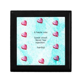 """Speak aloud. Never fear rejection."" (Motivation) Gift Box"