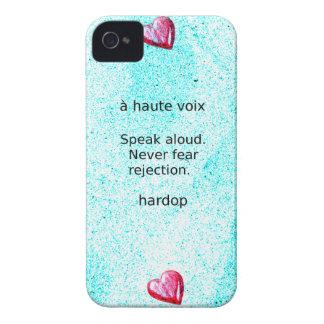 """Speak aloud. Never fear rejection."" (Motivation) iPhone 4 Cover"