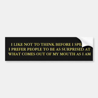 SPEAK BUMPER STICKER
