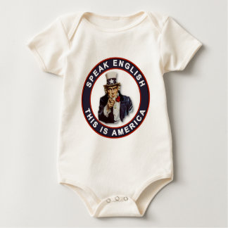 SPEAK ENGLISH - THIS IS AMERICA BABY BODYSUIT