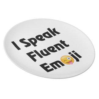 Speak Fluent Emoji Party Plates