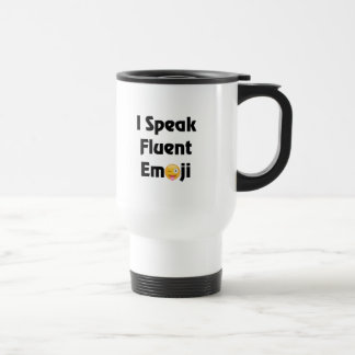 Speak Fluent Emoji Travel Mug