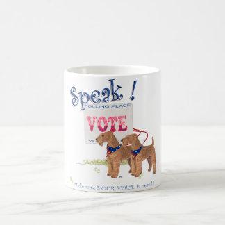 Speak!  Irish Terriers Election Day Coffee Mugs