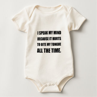 Speak My Mind Bite Tongue Baby Bodysuit