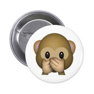Speak No Evil Monkey - Emoji 6 Cm Round Badge