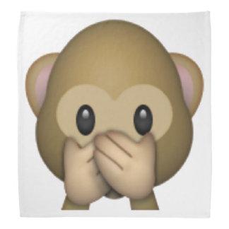 Speak No Evil Monkey - Emoji Bandana