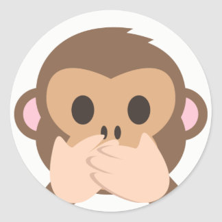 Speak-No-Evil Monkey Emoji Classic Round Sticker