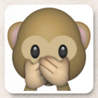 Speak No Evil Monkey - Emoji Drink Coaster