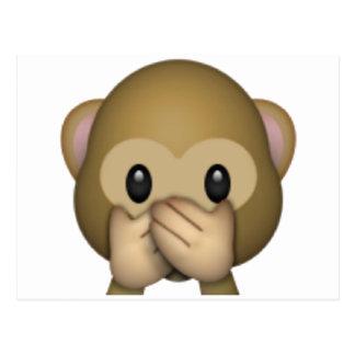Speak No Evil Monkey - Emoji Postcard