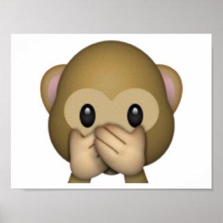 Speak No Evil Monkey - Emoji Poster
