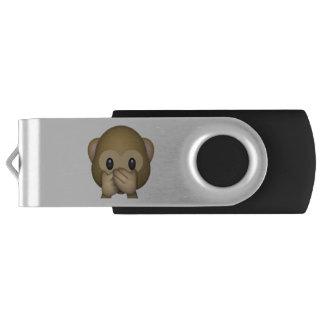 Speak No Evil Monkey - Emoji USB Flash Drive