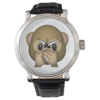 Speak No Evil Monkey - Emoji Watch