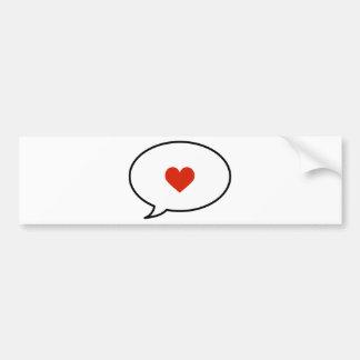 Speak of Love Bumper Stickers