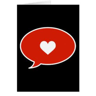 Speak of Love Card