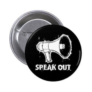 Speak Out Button Pin