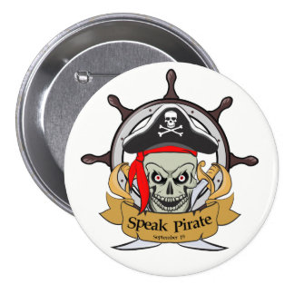 Speak Pirate 7.5 Cm Round Badge