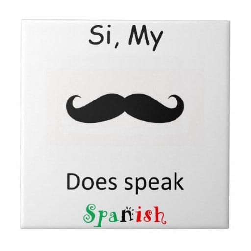 Speak Spanish Tile