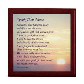 """Speak Their Name"" Keepsake Box #4"