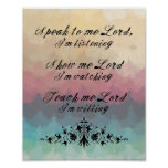 Speak To Me Lord Poster