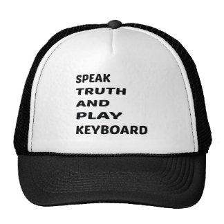 Speak Truth and play Keyboard Cap