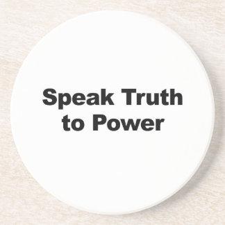 Speak Truth To Power Beverage Coaster