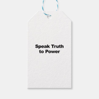 Speak Truth To Power Gift Tags