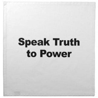 Speak Truth To Power Napkin