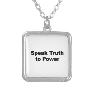 Speak Truth To Power Silver Plated Necklace