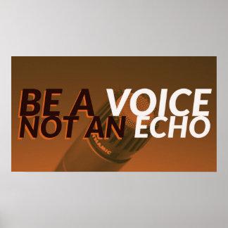 Speak Up Motivational quote poster