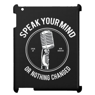 Speak Your Mind IPAD/IPAD MINI, IPAD AIR CASE iPad Case