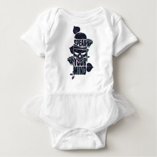 speak your mind skull baby bodysuit