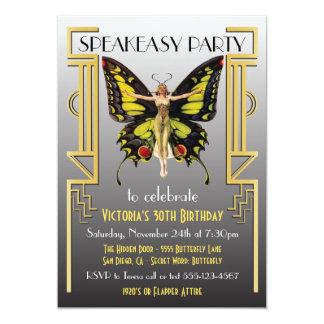 Speakeasy Flapper Great Gatsby Party Invitation