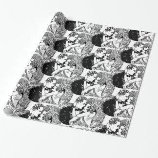 Speakeasy Roaring 20's Wedding Theme Retro Wrapping Paper