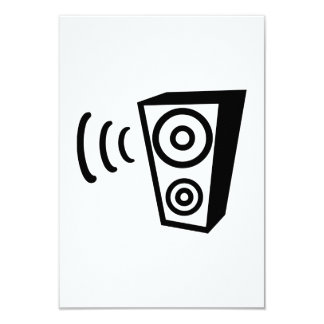 Speaker beat music 9 cm x 13 cm invitation card