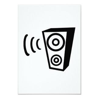 Speaker beat music 9 cm x 13 cm invitation card
