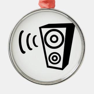 Speaker beat music metal ornament