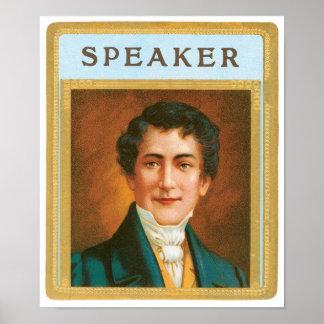 Speaker Label Poster
