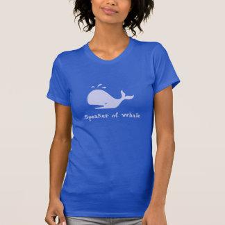 Speaker of Whale -- Light Blue Print T-Shirt