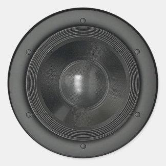 Speaker Round Sticker