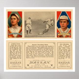 Speaker Rounding Third Baseball 1912 Poster