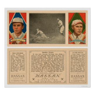Speaker Scores Red Sox Baseball 1912 Poster