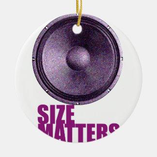 Speaker Size Matters Ceramic Ornament