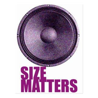 Speaker Size Matters Postcard
