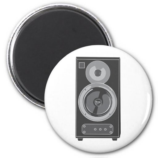 Speaker ~ Stereo Music Audio Retro / Vintage Refrigerator Magnets