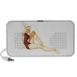 Speakers Pin-up Girls Collage Vintage Retro 4 Mp3 Speakers