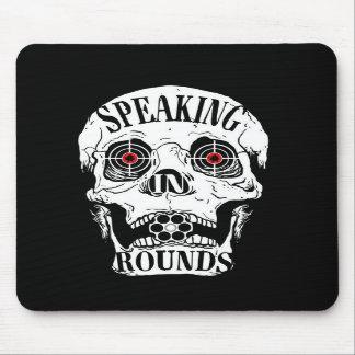 Speaking In Rounds Skull Mousepad