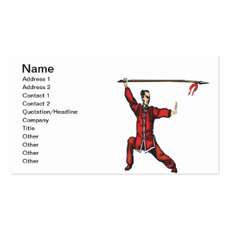 Spear Fighter Business Cards
