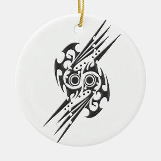 Spear Scroll Tattoo Symbol Ceramic Ornament