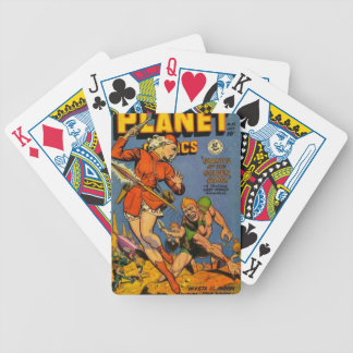 Spear Throwing Alien Bicycle Playing Cards